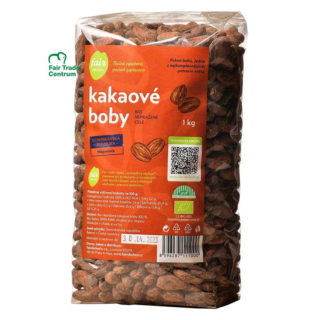 346 bio neprazene kakaove boby dominicana hispaniola 1 kg