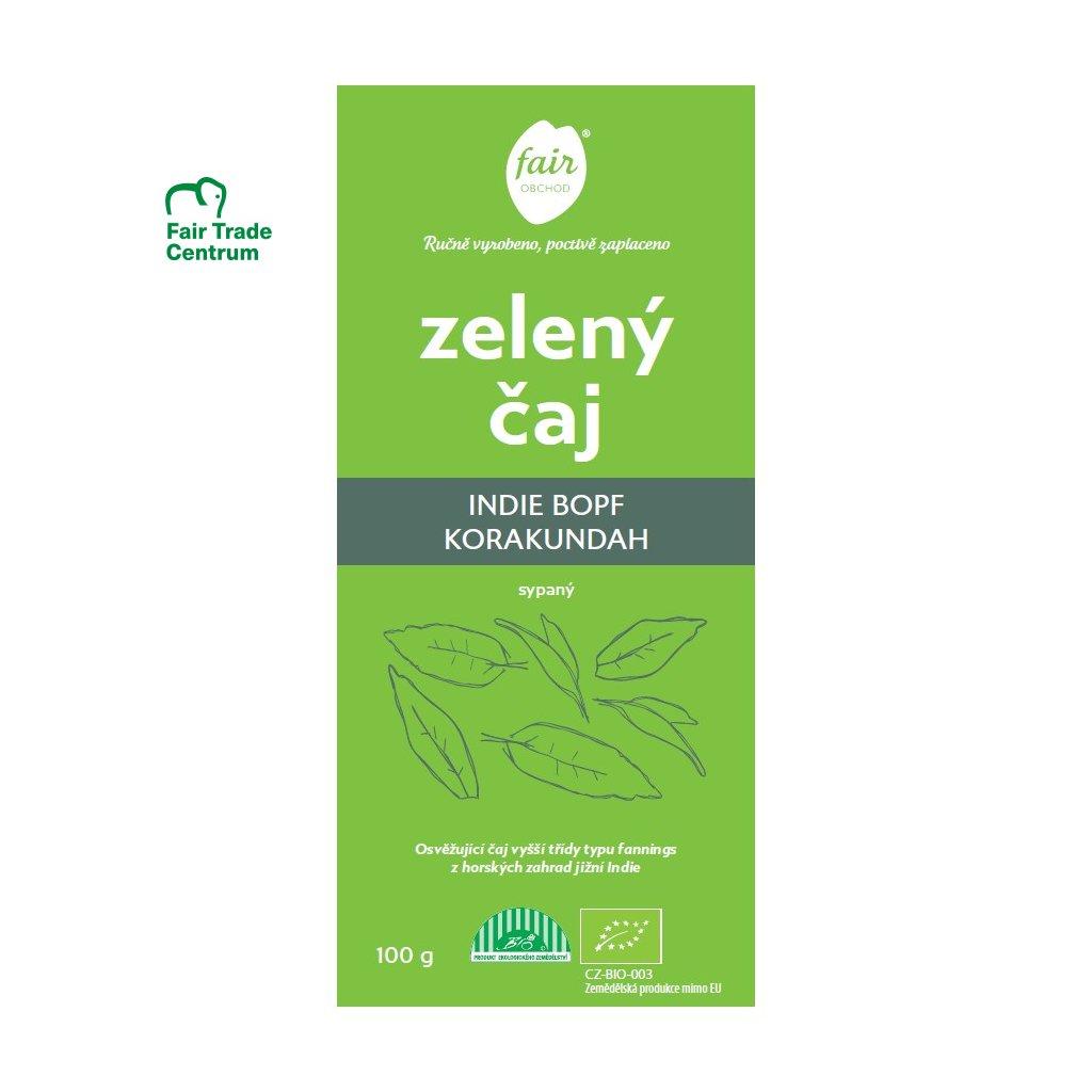 Fair trade bio zelený čaj sypaný Indie FOP Korakundah, 100 g