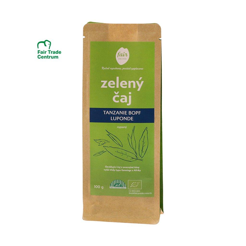 Fair trade bio zelený čaj Tanzanie BOPF Luponde sypaný