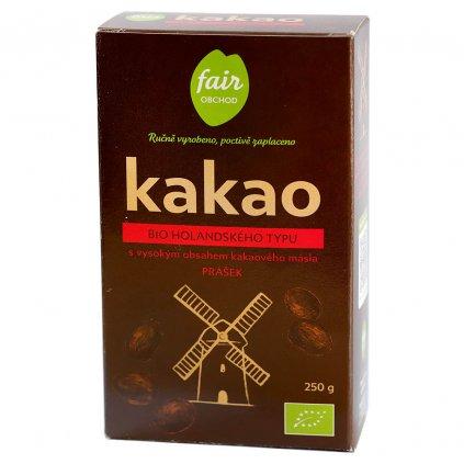 Fair trade bio kakaový prášek plnotučný holandský, 250 g