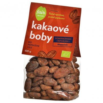 340 bio neprazene kakaove boby dominicana hispaniola 100 g