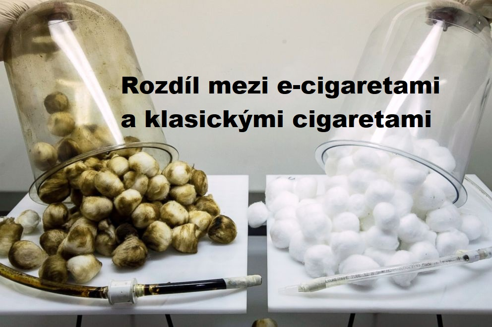 Rozdíl mezi e-cigaretami a klasickými cigaretami