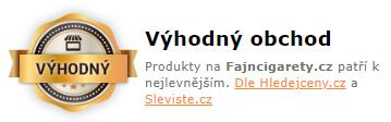 Fajncigarety - nejlevnější dle Hledejceny.cz
