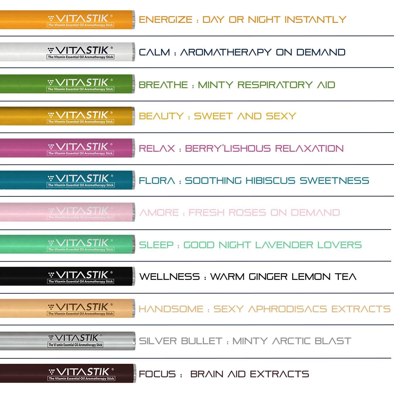 Vitastik 12 kusů SADA (Vitamínové cigarety)
