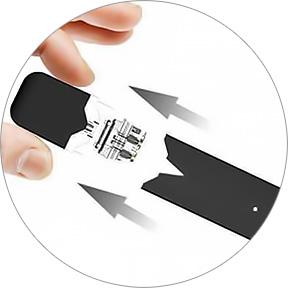 Náhradní plnitelná Pod Cartridge pro Pod elektronické cigarety řady Juul, OVNS aj.