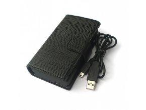 [!Doprodej] - Dobíjecí pouzdro pro elektronickou cigaretu eGo / Riva-T (2000mAh) (Černé)
