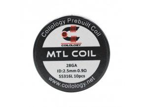 Předmotané spirálky Coilology MTL Series - MTL SS316L (0,9ohm) (10ks)