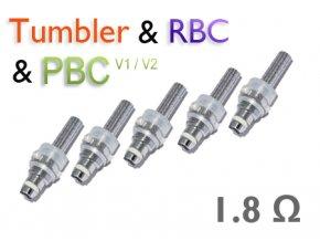 Náhradní žhavící tělísko Smoktech Tumbler / RBC / PBC / EBC / GBC (1.8ohm) (5 ks)