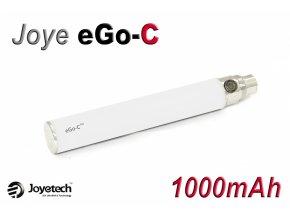Baterie Joyetech eGo-C - (1000mAh) (Bílá) - UPGRADE