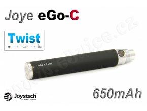Baterie Joyetech eGo-C TWIST - (650mAh) (Černá)