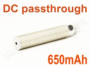 Baterie eGo / DC passthrough (650mAh) - MANUAL (Chromová)