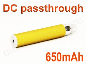 Baterie eGo / DC passthrough (650mAh) - MANUAL (Titanium Gold)
