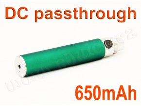 Baterie eGo / DC passthrough (650mAh) - MANUAL (Zelená)