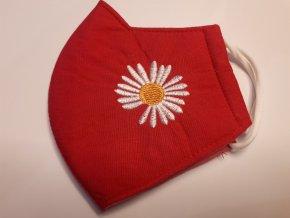 Antibakteriální textilní rouška červená
