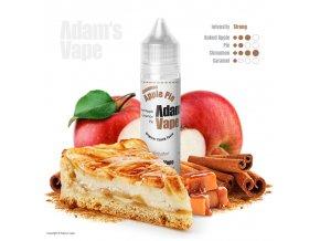 Příchuť Adams vape S&V: Cinnamon Apple Pie (Pečená jablka v karamelovém těstě se skořicí) 12ml