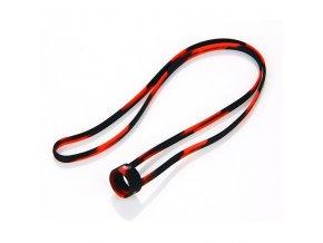 Univerzální silikonová šňůrka na krk pro e-cigarety 19 - 22mm (Černo-červená)
