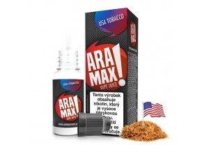 E-liquid Aramax 10ml / 18mg: USA Tobacco (Tabák)