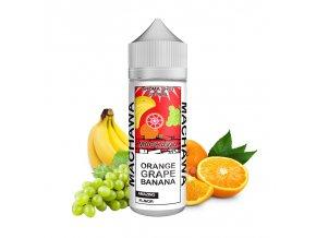 Příchuť Machawa Shake & Vape: Pomeranč, hroznové víno, banán 15ml