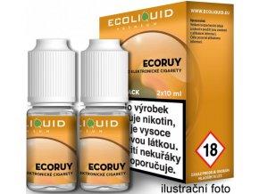Liquid Ecoliquid Premium 2Pack ECORUY 2x10ml - 0mg  + dárek zdarma