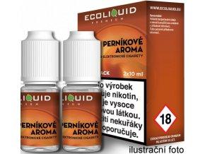 Liquid Ecoliquid Premium 2Pack Gingerbread tobacco 2x10ml - 18mg (Perníkový tabák)  + dárek zdarma