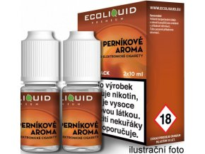 Liquid Ecoliquid Premium 2Pack Gingerbread tobacco 2x10ml - 20mg (Perníkový tabák)  + dárek zdarma