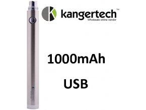 Kangertech EVOD baterie s USB 1000mAh Silver  + dárek zdarma