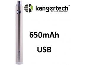 Kangertech EVOD baterie s USB 650mAh Silver  + dárek zdarma