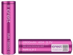 Efest baterie typ 18650 2100mAh 38A  + dárek zdarma