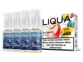 Liquid LIQUA CZ Elements 4Pack Blackberry 4x10ml 3mg (ostružina)