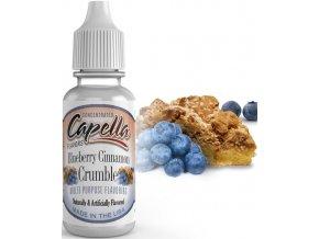 Příchuť Capella 13ml Blueberry Cinnamon Crumble  + dárek zdarma