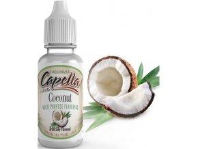 Příchuť Capella 13ml Coconut (Kokos)  + dárek zdarma