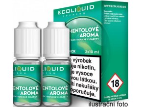 Liquid Ecoliquid Premium 2Pack Menthol 2x10ml - 3mg