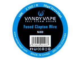 Vandy Vape Fused Clapton Ni80 odporový drát 26GA*2(=)+35GA 3m  + DÁREK ZDARMA