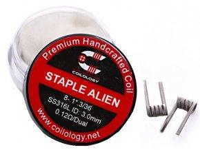 Coilology Staple Alien předmotané spirálky SS316 0,12ohm  + DÁREK ZDARMA