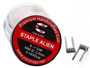 Coilology Staple Alien předmotané spirálky Ni80 0,14ohm  + DÁREK ZDARMA