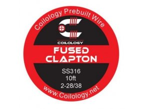 Coilology Fused Clapton odporový drát SS316 26/38