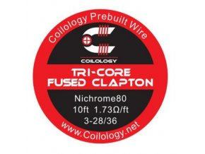 Coilology Tri-Core Fused Clapton odporový drát Ni80 28/36
