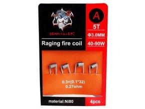 Demon Killer Raging Fire předmotané spirálky Ni80 0,27ohm 4ks Typ A  + DÁREK ZDARMA