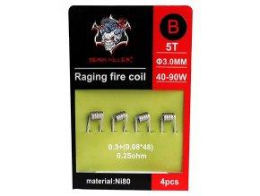 Demon Killer Raging Fire předmotané spirálky Ni80 0,25ohm 4ks Typ B  + DÁREK ZDARMA
