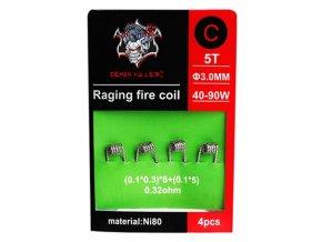 Demon Killer Raging Fire předmotané spirálky Ni80 0,32ohm 4ks Typ C  + DÁREK ZDARMA
