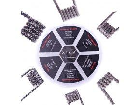 XFKM Sada předmotaných spirálek 6v1 24ks