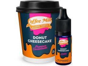 Příchuť Coffee Mill 10ml Donut Cheesecake  + DÁREK ZDARMA
