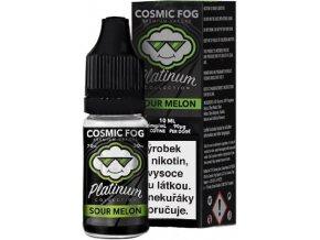Liquid COSMIC FOG - Platinum Sour Melon 10ml-6mg  + DÁREK ZDARMA