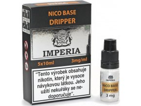nikotinova baze cz imperia dripper 5x10ml pg30vg70 3mg