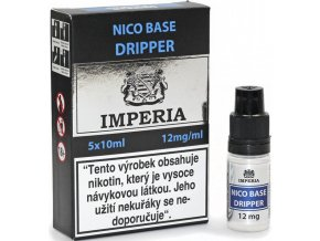 nikotinova baze cz imperia dripper 5x10ml pg30vg70 12mg