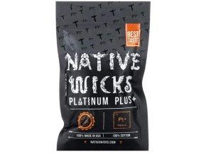 Native Wicks Platinum Plus přírodní vata