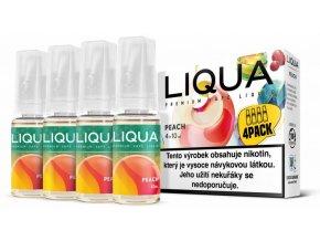 liqua cz elements 4pack peach 4x10ml broskev