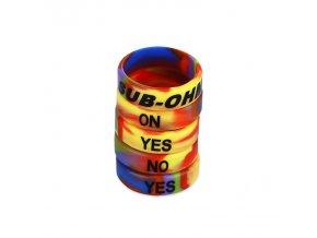 Dekorativní silikonový kroužek 23mm (Duhový)