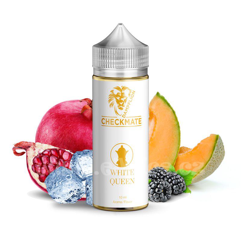 Příchuť Dampflion Checkmate: White Queen (Ledový cukrový meloun, granátové jablko a ostružina) 10ml