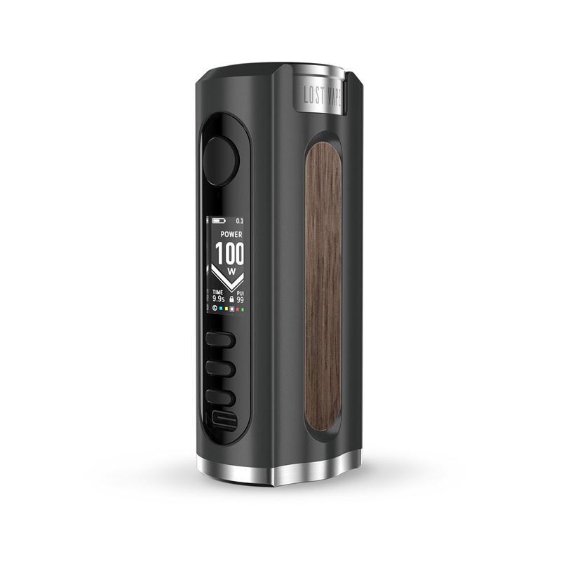 Elektronický grip: Lost Vape Grus Mod (Black / Walnut Wood)